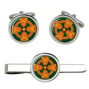 Celtic cross Christian Cufflinks and Tie Clip Set
