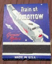 Train of Tomorrow Matchbook General Motors 1940s unstruck USA made DDBean&Sons
