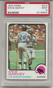 1973 TOPPS #213 STEVE GARVEY, PSA 9 MINT, LOS ANGELES DODGERS, L@@K !