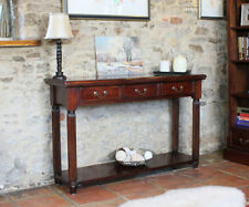 Mahogany Console Tables without Assembly Required