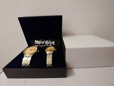 Hard Rock Men And Women's Watch Set Stainless Steel Silver And Gold Band...