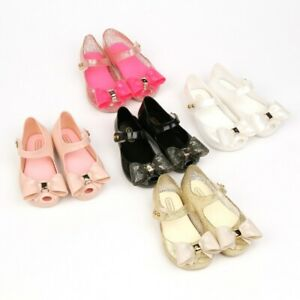 Mini Melissa Sandals Bow Mary JaneToddler Infant Kids Girl Jelly Shoes US 6-11