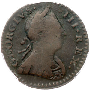 1772 V 6-72A PCGS VF 20 Machin's Mills Colonial Copper Coin 1/2p