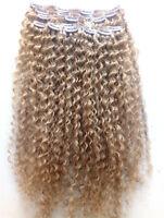 brazilian human virgin hair extensions clip in hair weft dark blonde color