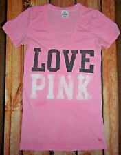 VICTORIA'S SECRET PINK TEE SHIRT TOP WOMENS SIZE SMALL