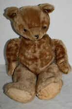 "Antique Vintage Mohair Teddy Bear, 18"" Jointed Hump Back Glass Eyes"