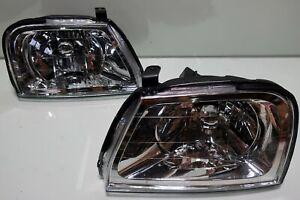 FRONT HEAD LAMP LIGHT PAIR MITSUBISHI L200 Strada G-Wagon H4 LEFT RIGHT 96- 05