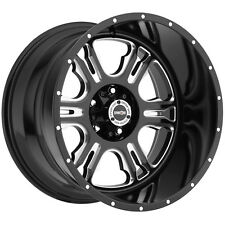"4-NEW Vision 397 Rage 20x12 5x127/5x5"" -51mm Black/Milled Wheels Rims"
