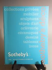 Sotheby's Paris Deco Collections Privees 26-27 Octobre 2006 Auction Cayalog