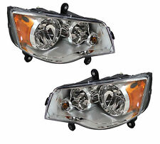 2008 - 2016 CHRYSLER TOWN & COUNTRY ( HALOGEN ) HEAD LIGHT LEFT & RIGHT PAIR 2PC