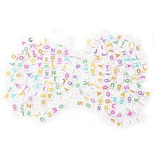"""Lot 200 Lettre de l'alphabet plastique Cube Enfilade Perles 0,24 """" Q4T6"""