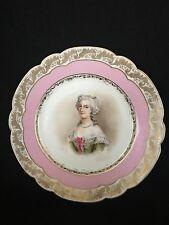 Antique Royal Vienna Portrait Porcelain Plate Marie Antoinette Queen of France
