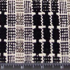 "Cream Matka Black/Brown Checks 100% Raw Silk Fabric, 48"" Wide, By Yard (WT-262)"
