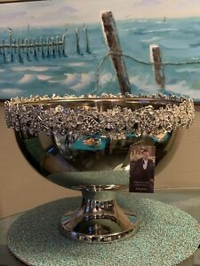 DAVID TUTERA Bowl Wine Champagne Bucket Wedding Crystal Rim Bling Sparkle XL