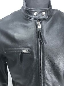 New! Wilsons Women's Side Laced Black Leather Motorcycle Jacket w/ Liner • Large