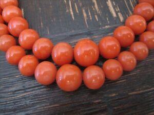 Traum Vintage Collier rote Koralle 2reinig Edelkoralle Kette 55 cm 333er Gold