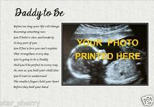 DADDY TO BE - Personalised PHOTO Poem (Laminated Gift) ***YOUR PHOTO PRINTED***