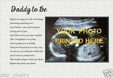 Daddy-Poème Photo Personnalisé Cadeau laminé () *** votre photo imprimée ***