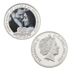 WR Prince Harry & Meghan Markle Royal Wedding UK Commemorative Silver Coin Medal