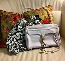 Rebecca Minkoff Latte Leather Mini MAC White Crossbody Clutch NWOT