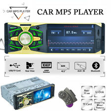 "Single DIN 4.1""Inch Car MP5 Player Stereo Radio Bluetooth HD Screen USB/AUX/FM"