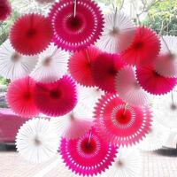 5pcs/pack Tissue Paper Cut-out Fan Tassel Garland Wedding Birthday Party Decor