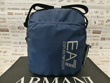 EMPORIO ARMANI Pouch Body Bag Men's S2000 TRAIN PRIME Blue Shoulder Bags BNWT