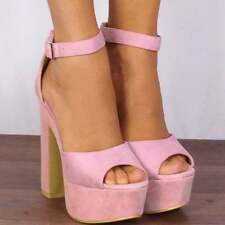 Patternless Evening & Party Strappy, Ankle Straps Heels for Women