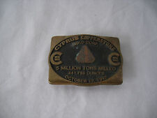 Cyprus  Copperstone Gold Corp Belt Buckle 5 Million Tons Milled