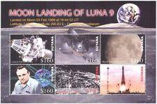 Guyana 2006 Space/Luna 9/Moon Landing/Rockets/Spacecraft/People 6v m/s (n17157p)