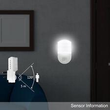 Luz Blanca LED Lámpara Nocturna de Pared con Sensor PIR de Movimiento Hogar