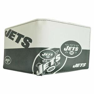 New York Jets NFL Men's Printed Logo Leather Bi-Fold Wallet