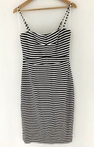 Country Road Stripe Black and White Dress Size M