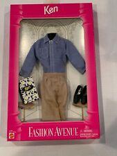 1995 Barbie: Ken Doll - Fashion Avenue 15182 - Blue dress shirt & Khaki pants