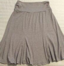 Lipstick Spandex Blend Knit Skirt, Yoga Style Roll Down Waist, Size Large