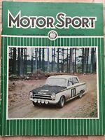 Motor Sport Magazine - January 1967 - MG1100, Fiat 1100R, Abarth OT 1000, E-Type
