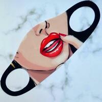 Maske Gesichtsmaske waschbar Wiederverwendbar Design Red Lips