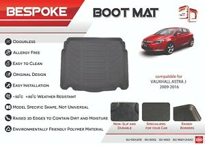 Vauxhall Astra J 2009-2015  Tailored Rubber Boot Liner Fitted Mat Dog Tray