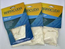 Lot Of 3 Baracuda Pool Filter Sox 5 Piece Fits All Skimmer Baskets Sock H0518600