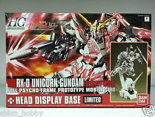 Bandai 0163114 HG 1/144 RX-0 Unicorn Gundam Destroy Mode + Head Display Base JPN