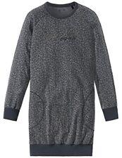 Pyjamas gris à longueur de manches manches longues pour fille de 2 à 16 ans en 100% coton