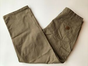 Carhartt Original Dungaree Mens 32 30 Carpenter Washed Duck Work Pants Brown Tan