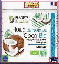 Huile de Coco Bio Naturelle Vierge Pure Alimentaire Cosmetique Soins Capillaire