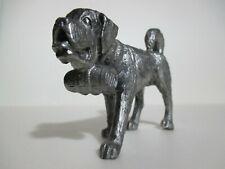 St. Bernard Dog Figurine - Beautiful Pewter Piece - Excellent Condition!