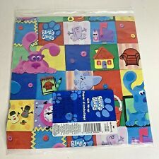 VTG Blues Clues Wrapping Paper Sealed New Hallmark Gift Birthday Vintage 2000