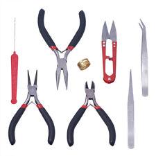 Jewellery Making Beading Mini Pliers Tools Kit Set Round Flat Long Nose Y5R7