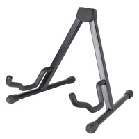Rocket Guitar Floor Stand - Universal A Frame Foldable Stand with Padded Arms