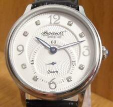 Mens Ingersoll Quartz Regent INQ022WHSL Black Leather Crystal Gents Watch