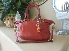 COACH MADISON SOPHIA RED Handbag preowned good condition