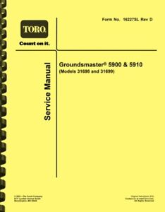 Toro Groundsmaster 5990 and 5910 SERVICE MANUAL